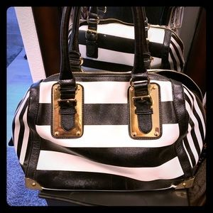 Aldo Black/White Satchel
